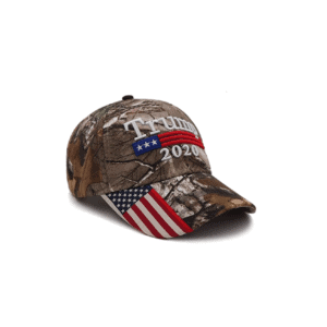 003 Trump 2020 Green Camo USA Flag Cap