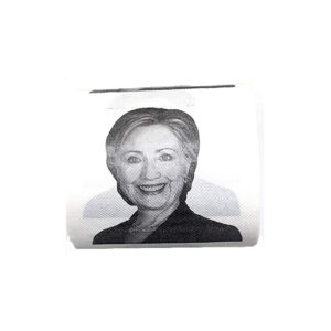 086 Hillary Clinton Smiling Joke Toilet Roll