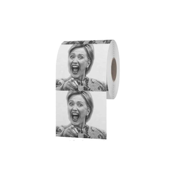 090 Novelty Hillary Clinton Laughing Toilet Roll