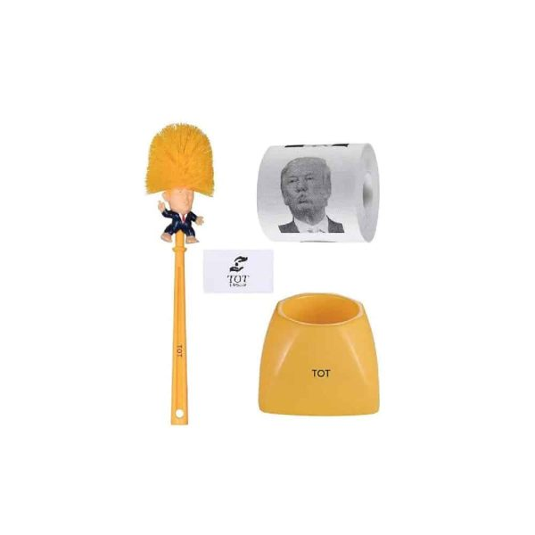 093 Trump Toilet Paper Brush and Holder