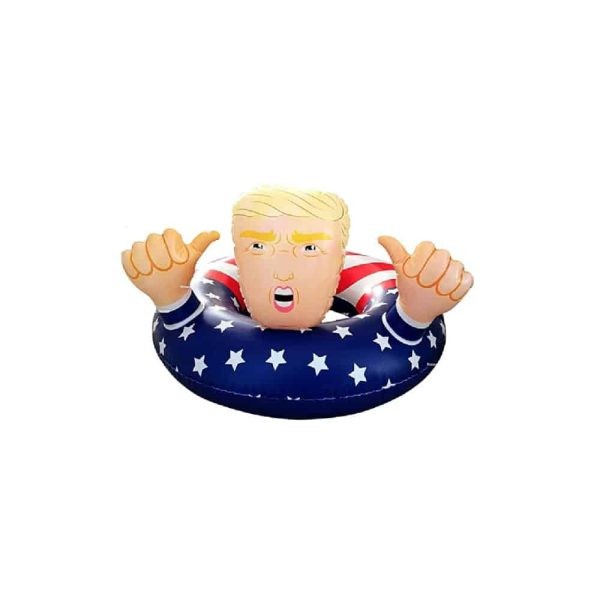 Donald Trump Stars and Stripes Pool Inflatable Raft Ring