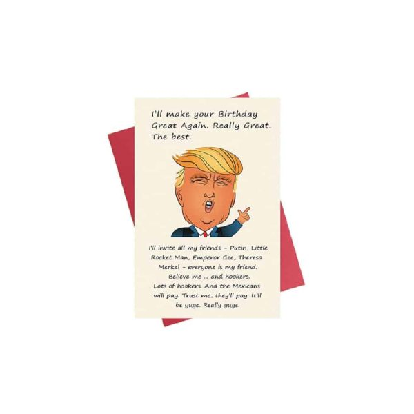 Donald Trump MAGA Birthday Card