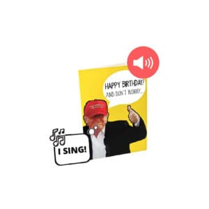Singing Donald Trump Audible Birthday Card
