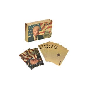 Donald Trump Gold Plated Playing Cards