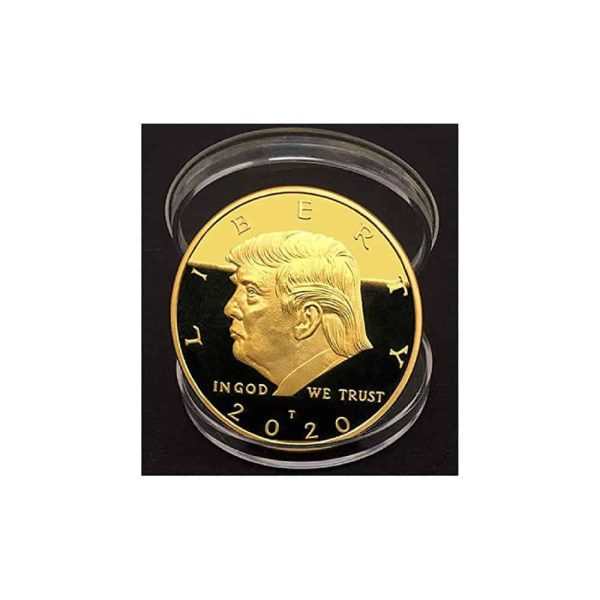 Donald Trump Large 24kt Gold Coin