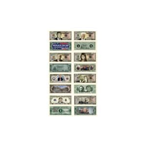 Donald Trump Dollar Bills - Set of 8
