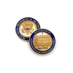 Donald Trump Presidential Coin and Pin Set