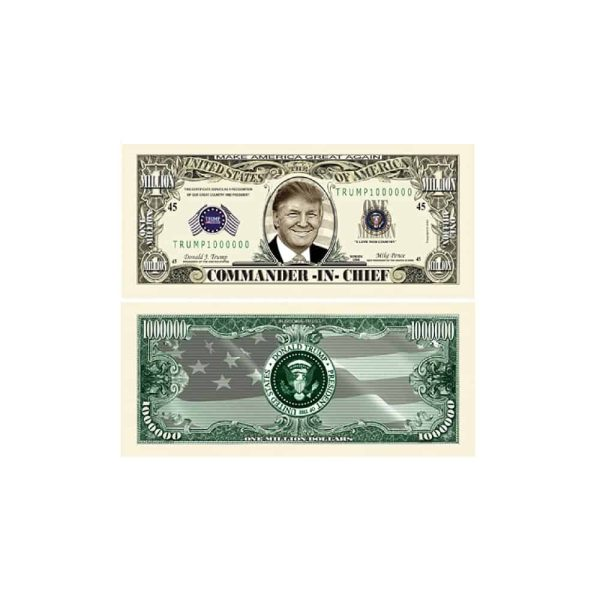 Donald Trump Commander In Chief Million Dollar Bill