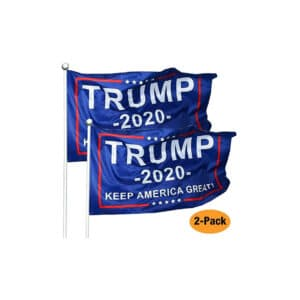 Trump 2020 Flags, 2 Pack