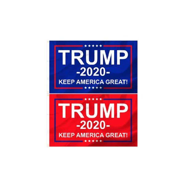 Trump 2020 Campaign Flags - Blue and Red Twin Pack