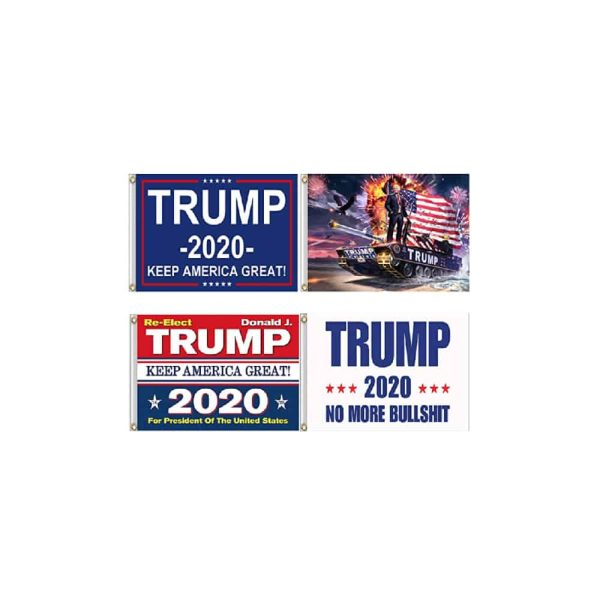 Trump 2020 Campaign Flags - 4 Pack