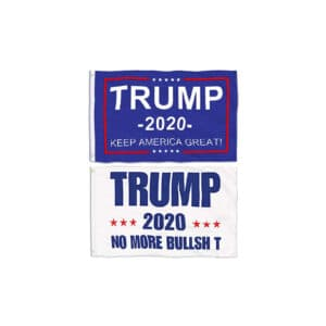 Trump 2020 - 2 Pack of Blue and White Flags
