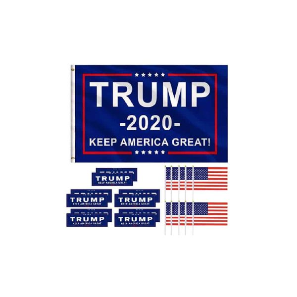 Trump 2020 Supporters Bundle - Flags, Bumper Stickers