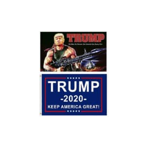 2 Pack of Trump 2020 Keep America Great Flags