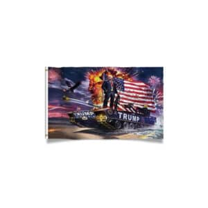 Trump Patriotic Tank Flag
