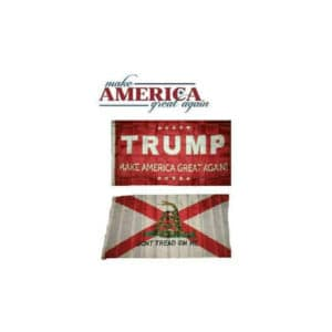 Alabama MAGA Donald Trump Flag Set, Red