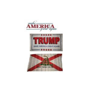 Alabama MAGA Donald Trump Flag Set, White