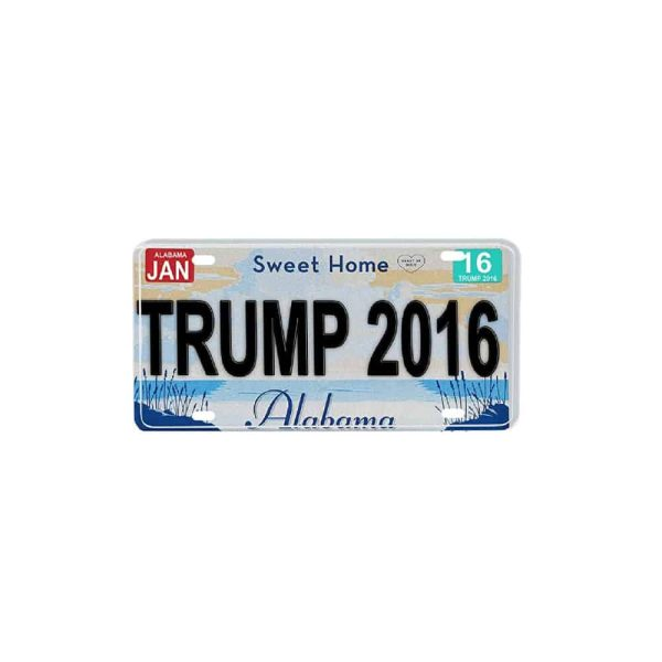 Alabama for Trump, 2016 Campaign License Plate Souvenir