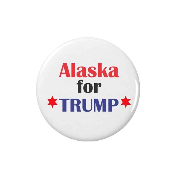 Alaska for Trump, Button Pin Badge