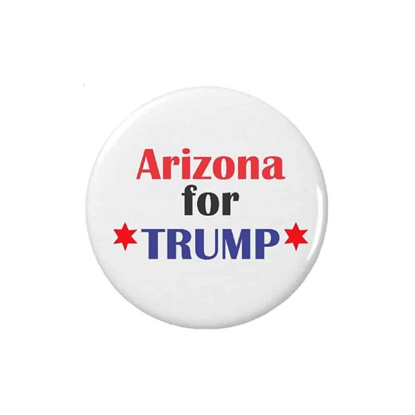 Arizona for Trump, Circular Button Pin Badge