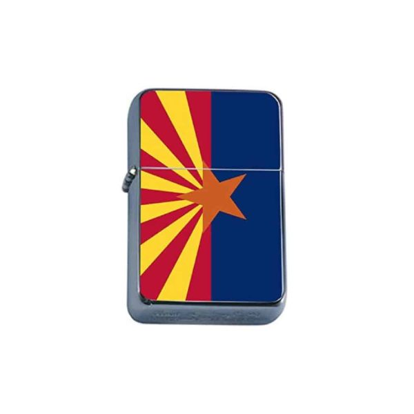 Arizona Flag Flip Top Lighter