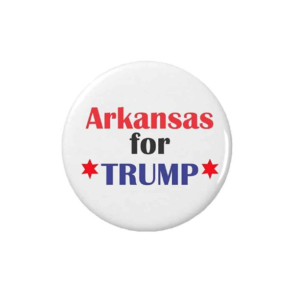 Arkansas for Trump, Button Pin Badge