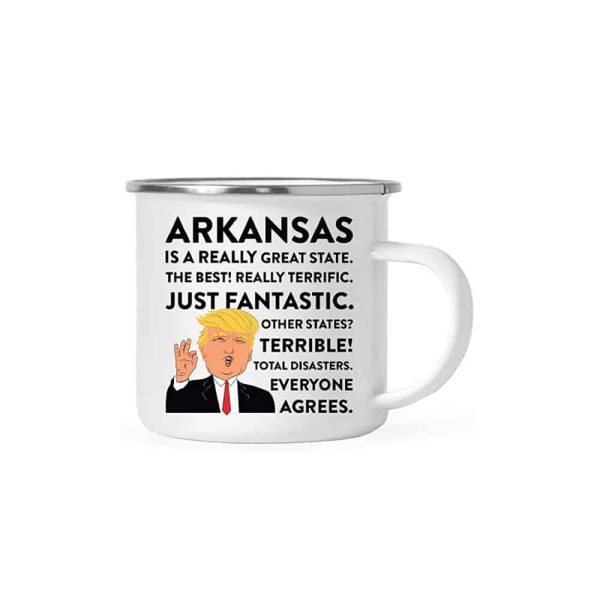 Arkansas Donald Trump Campfire Coffee Mug