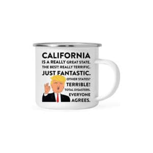 California Donald Trump Campfire Coffee Mug