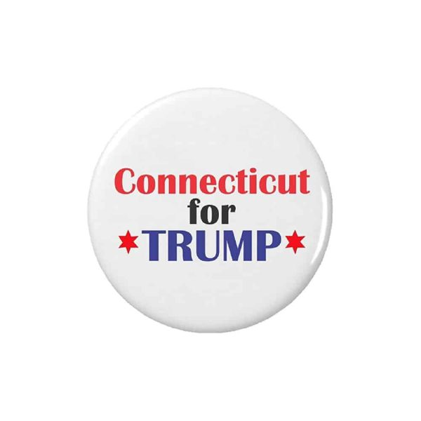 Connecticut for Trump - Button Pin Badge