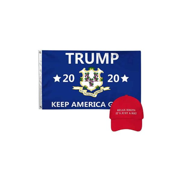 Connecticut for Trump - 2020 Campaign State Flag