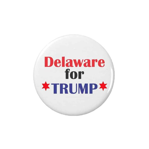 Delaware for Trump, Button Pin Badge