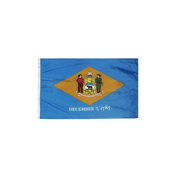 Delaware State Flag, 3x5ft Nylon, Made in USA
