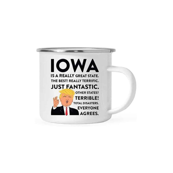 Iowa Donald Trump Campfire Coffee Mug