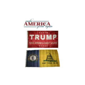 Kentucky State Donald Trump MAGA Flags, Twin Pack, Red