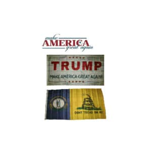 Kentucky State Donald Trump MAGA Flags, Twin Pack, White