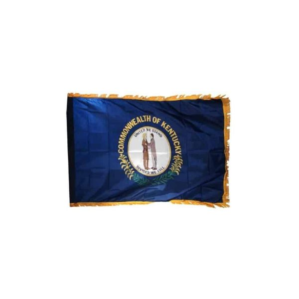 Kentucky State Flag, with Gold Fringe Edge