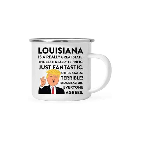 Louisiana Donald Trump Campfire Coffee Mug