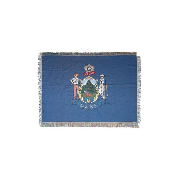 Maine State Flag with Edge Trim
