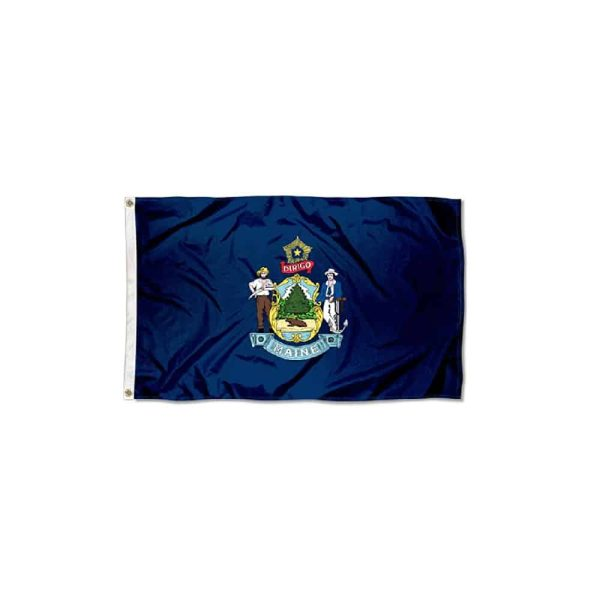 Maine State Flag, Navy 3x5ft