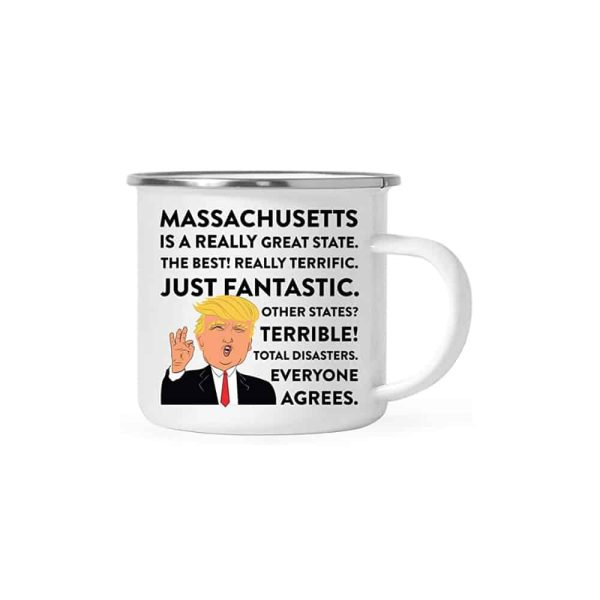 Massachusetts Donald Trump Campfire Coffee Mug