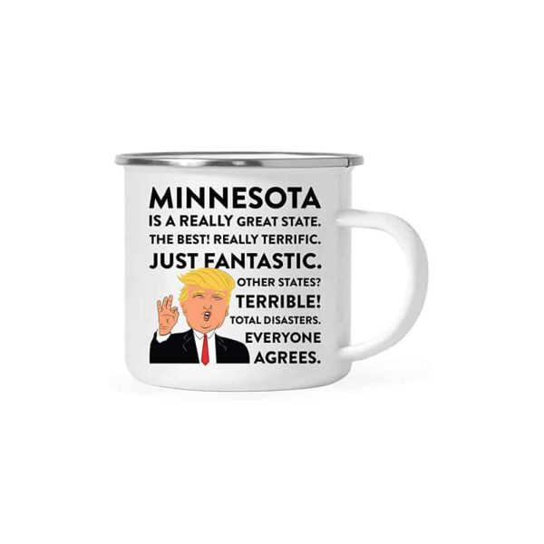 Minnesota Donald Trump Campfire Coffee Mug