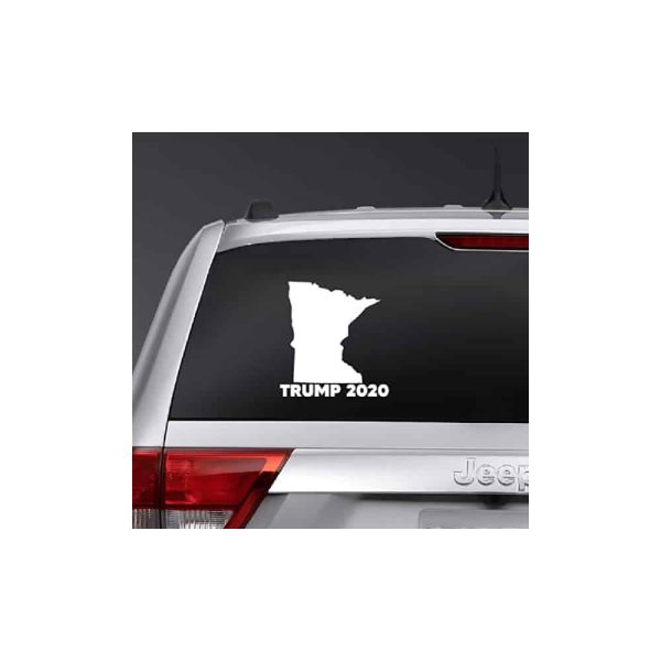 Minnesota for Trump 2020, State Outline Sticker