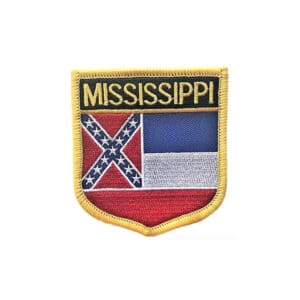 Mississippi State Flag, Sew On Badge