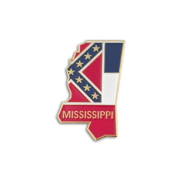 Mississippi State Flag Lapel Pin Badge