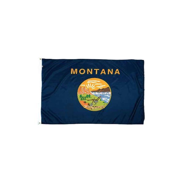 Montana State Flag, Navy, Nylon, Made in USA 3x5ft