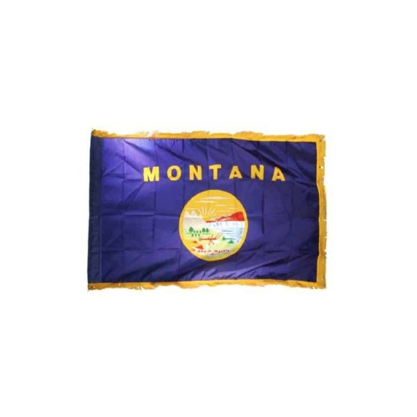 Montana State Flag, with Gold Edge Trim