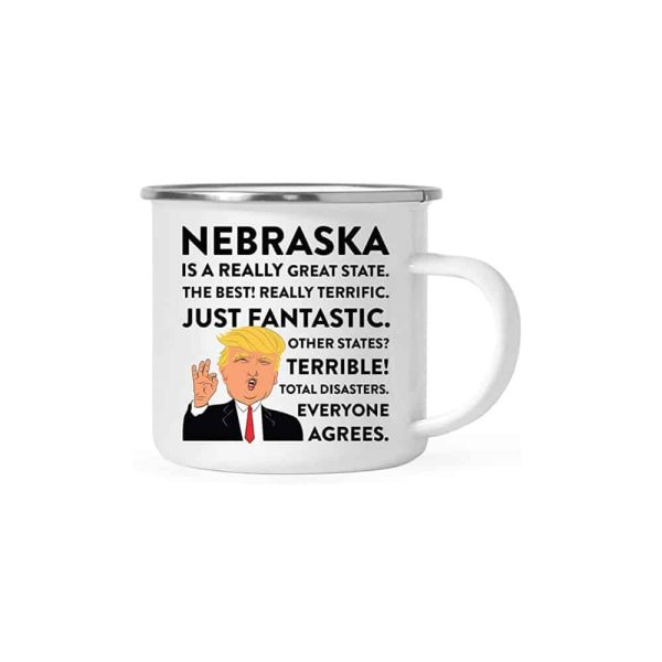Nebraska Donald Trump Campfire Coffee Mug
