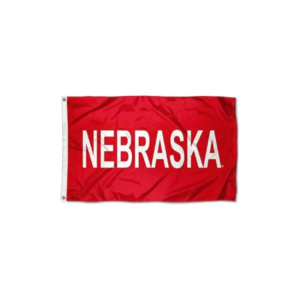 Nebraska Collegiate State Name Flag
