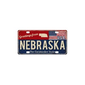 Greetings from Nebraska, License Plate Souvenir