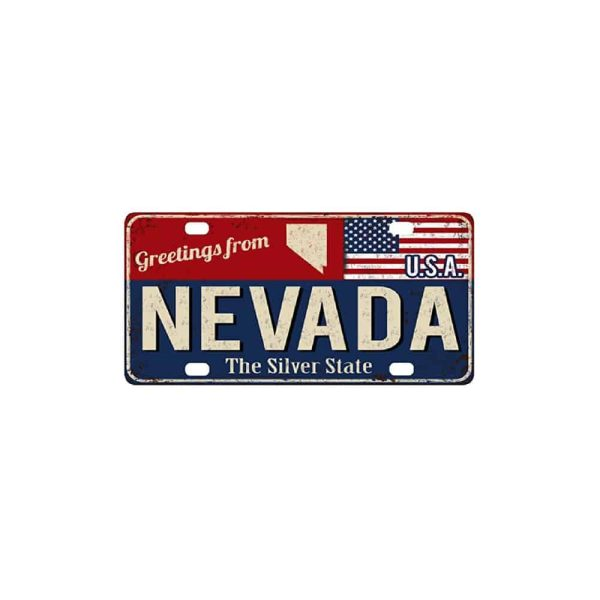 Greetings from Nevada, License Plate Souvenir